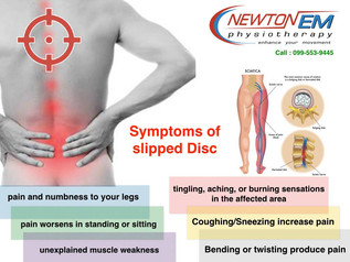 Signs of Slipped Disc (อาการเตือนหมอนรองกระดูกทับเส้นประสาท)