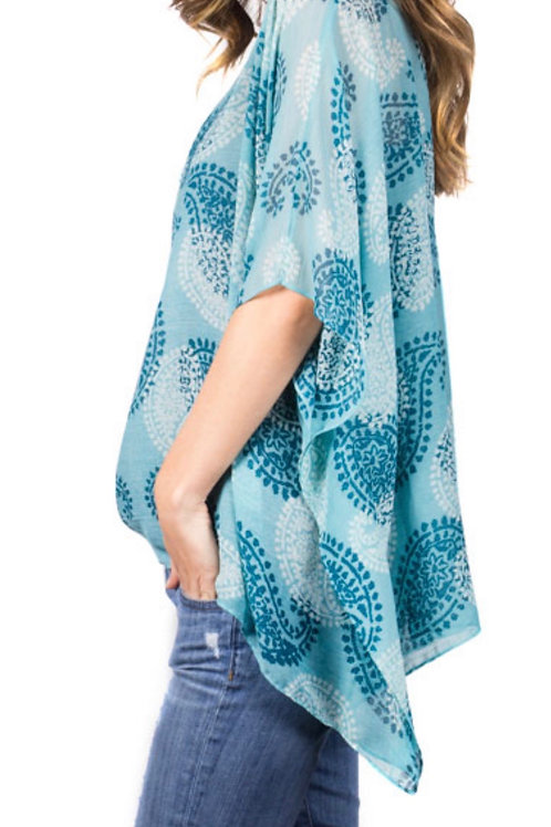 Paisley Print Cover Up