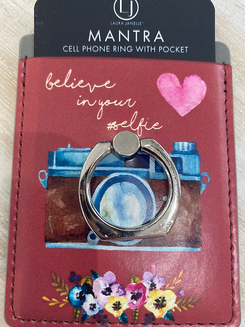 Believe in Your Selfie Ring Wallet