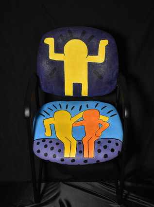"""After Keith Haring """"Best Buddies"""""""