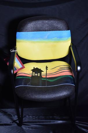 "After Edward Hopper ""Railroad Sunset"""