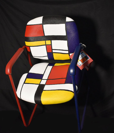 """After Piet Mondrian """"Composition with Yellow, Blue, Black, Red and Gray"""""""