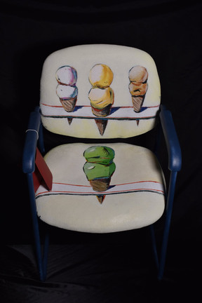 "After Wayne Thiebaud ""Four Ice Cream Cones"""