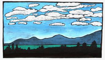 On the Horizon, Over Mount Tam