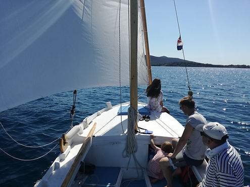 one day sang with traditional wooden boat gajeta,sailing trip to kornate,weekendsailing croatia, sailing and biking croatia murter