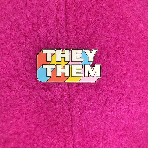 They/Them Enamel Pin 🏳️⚧️