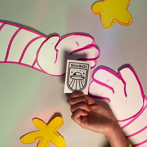 NIUBOI x Fingers Crossed Sticker