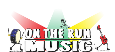 on the run logo colour work middle the c