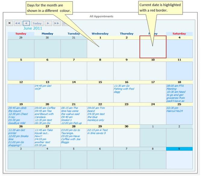 Calendar modules