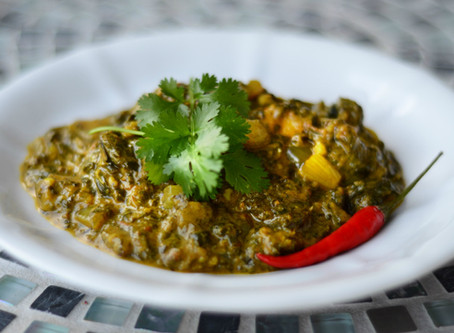 Palak Saag - Indian Spinach Curry (dairy free)