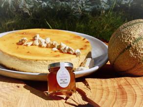 Recette : Cheesecake à la confiture artisanale de Melon aux brisures de Nougat de Montélimar