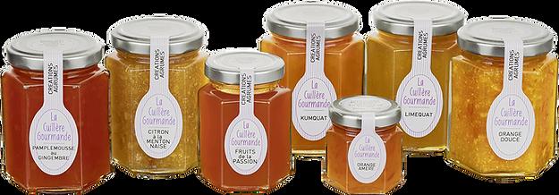 Confitures artisanales créations agrumes La Cuillère Gourmande