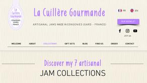 Notre site de confiture artisanale La Cuillère Gourmande devient bilingue...