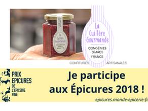 Les confitures artisanales de La Cuillère Gourmande seront présentes aux Epicures de l'Epicerie