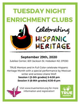Enrichment Club- Hispanic Heritage Month