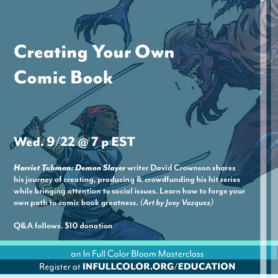 09-2021 Creating Your Own Comic Book fli