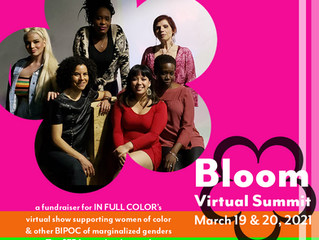 Bloom Virtual Summit raises $2,500 for marginalized artists of color
