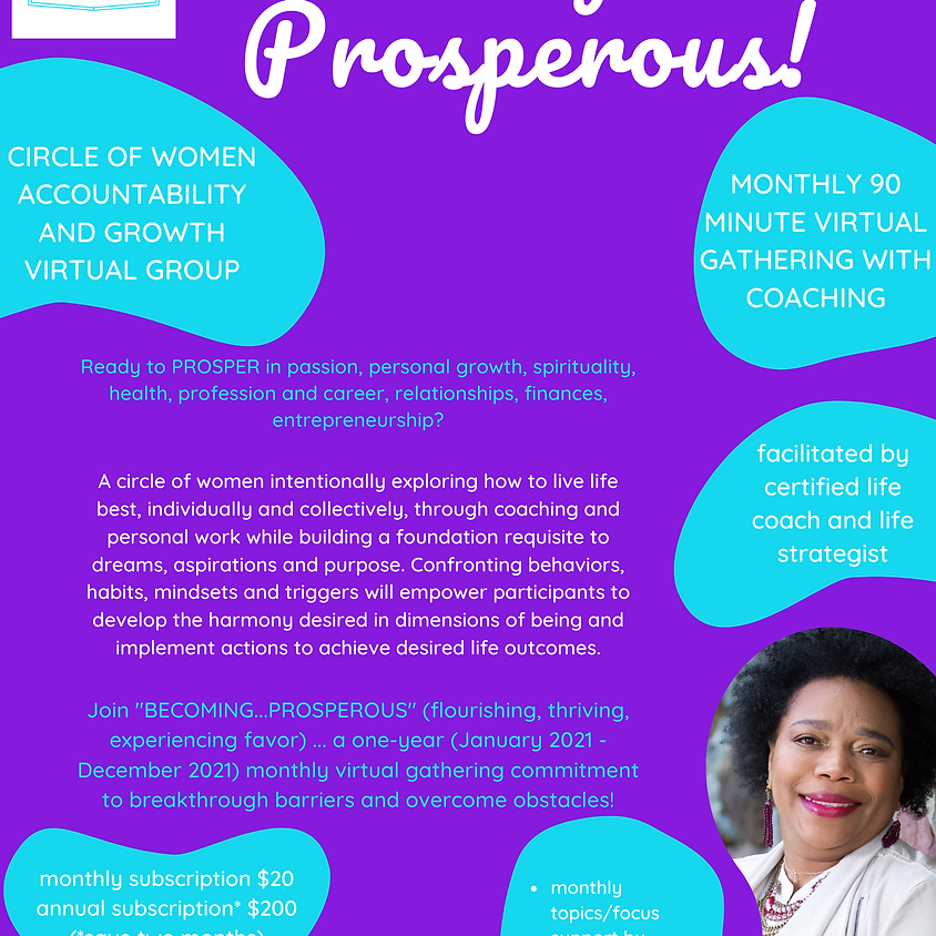 Becoming...Prosperous!