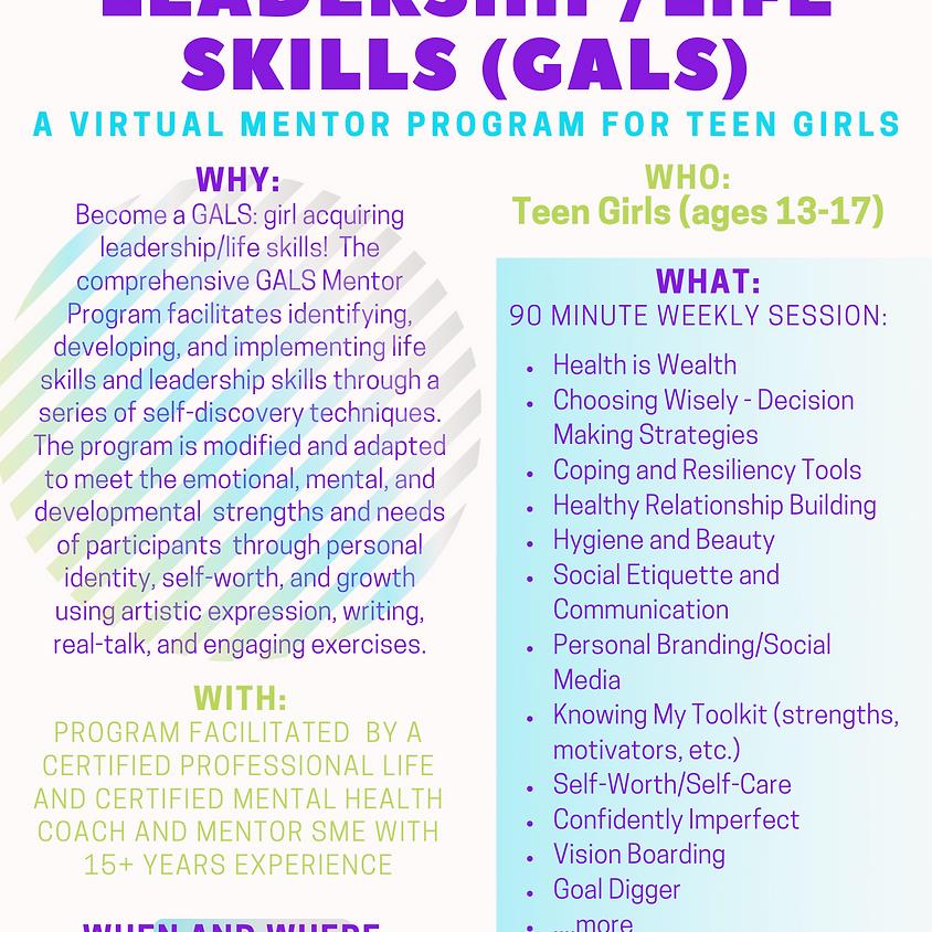 GALS Mentor Program Teens 13-17