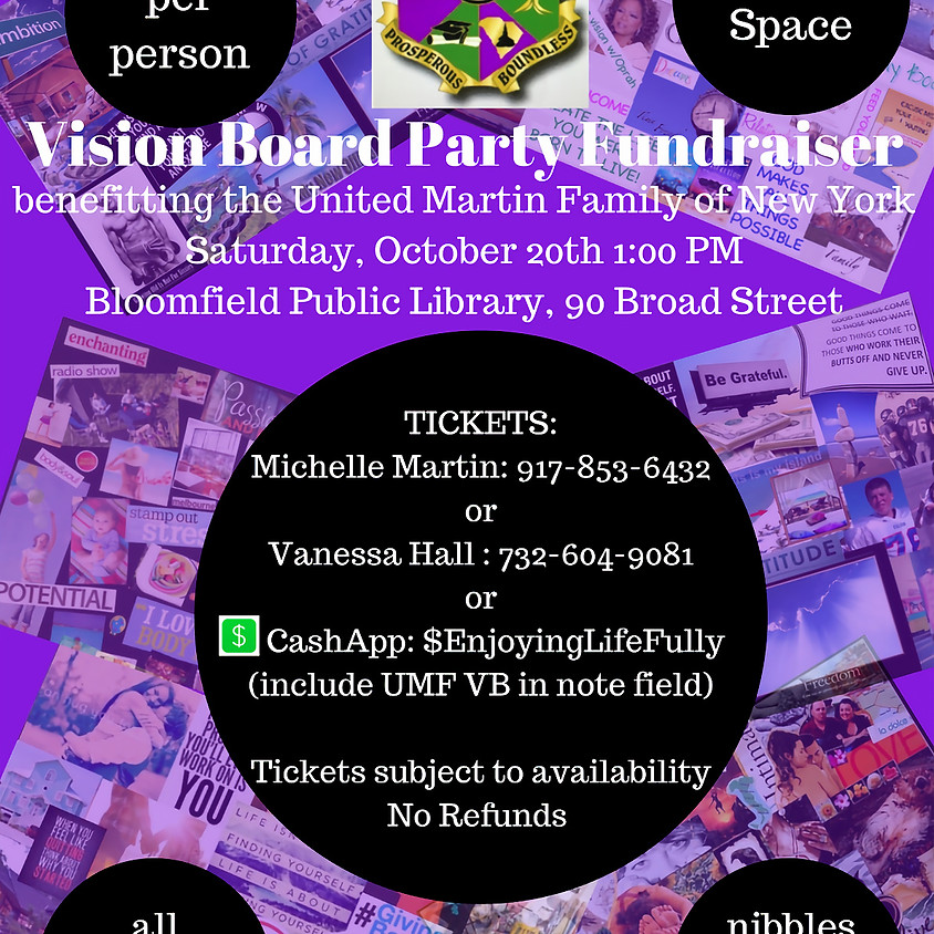 Vision Board Event Fundraiser