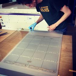 Preparing solar laminate