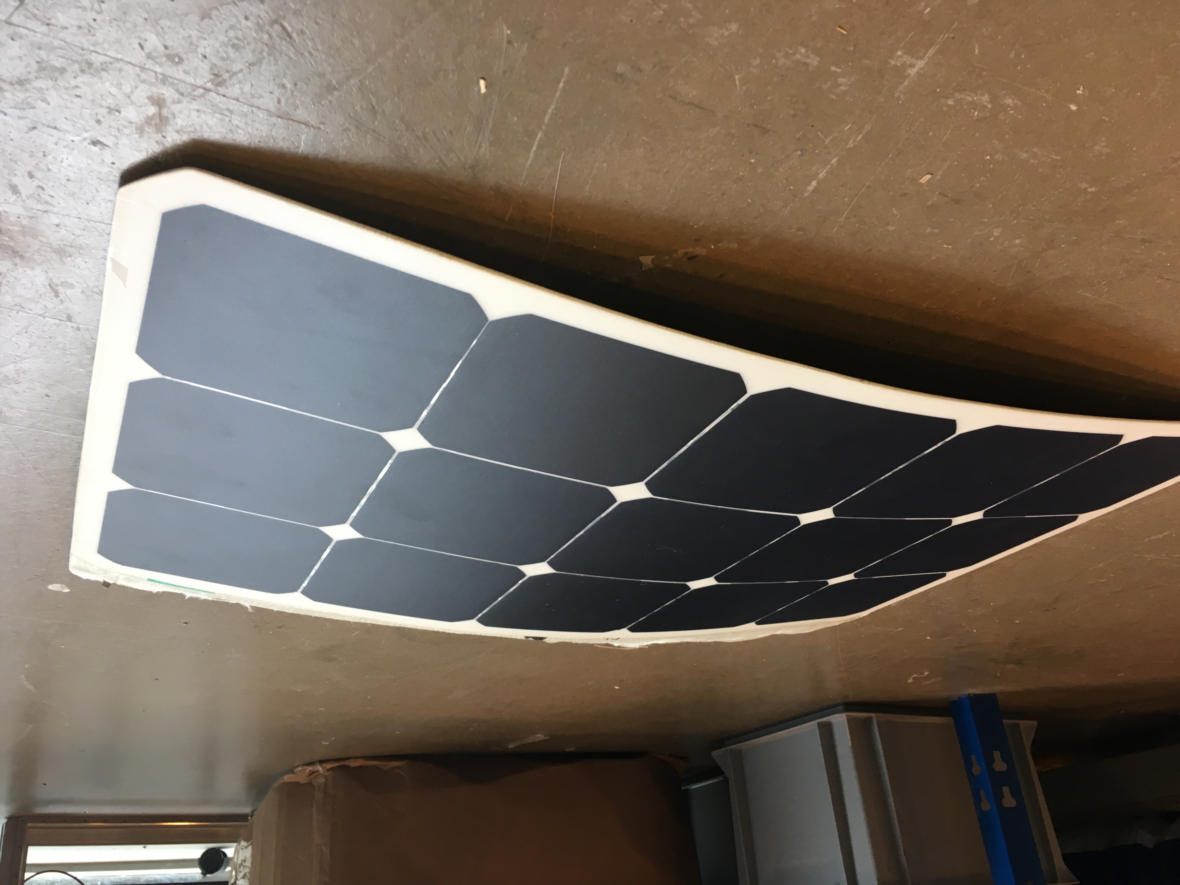 Solar panel integrated compositie