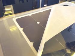 Revealing solar laminate