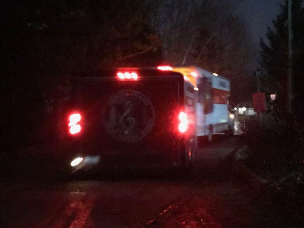 truck and trailer leaving.JPG