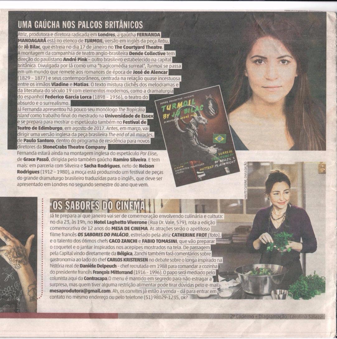 Zero Hora Newspaper - article
