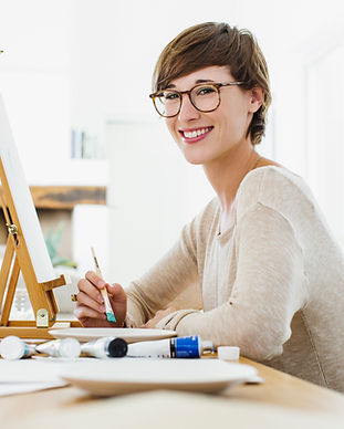 Hermosa Joven Artista