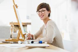 아름다운 젊은 아티스트