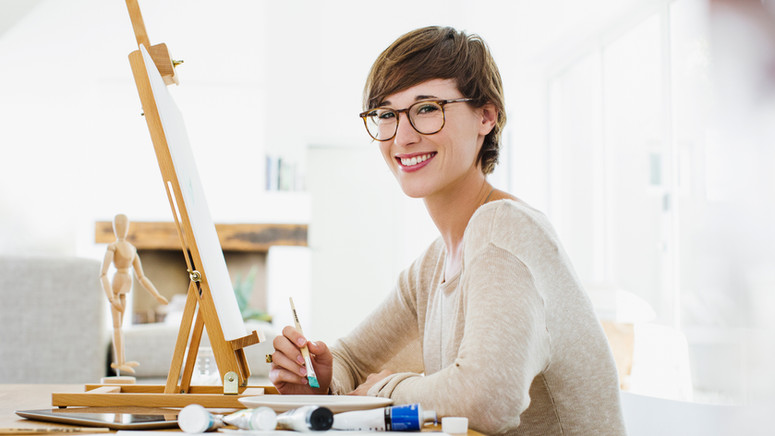 Beautiful Young Artist