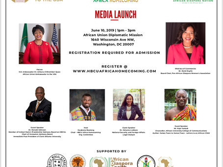 African Union Endorses HBCU Africa Homecoming Initiative - 10,000 students to visit Africa by 2024