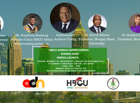 Ambassador Andrew Young and HBCU Leaders to Headline HBCU Africa Homecoming Ghana 2020 Media Launch