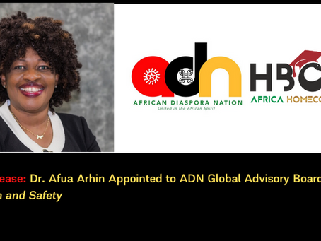 Dr. Afua Arhin Appointed to ADN Global Advisory Board