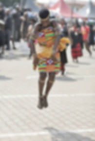 Adowa Dancer in Kente