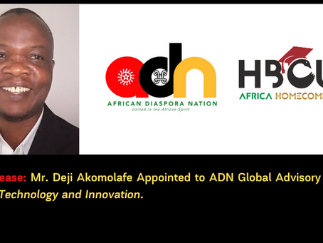 Mr. Dèjì Akọ́mọláfẹ́ Appointed to ADN Global Advisory Board