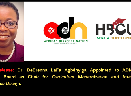 Dr. DeBrenna LaFa Agbényiga Appointed to ADN Global Advisory Board