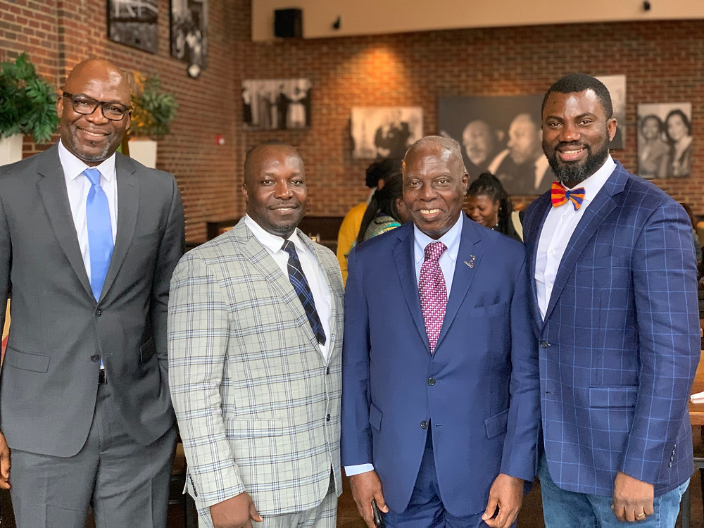 Ghanaian Ambassador to the United States, Baffour Adjei Bawuah and Chair of HBCU Africa Homecoming, Kwabena Boateng with Ghanaian Business Leaders in Atlanta.