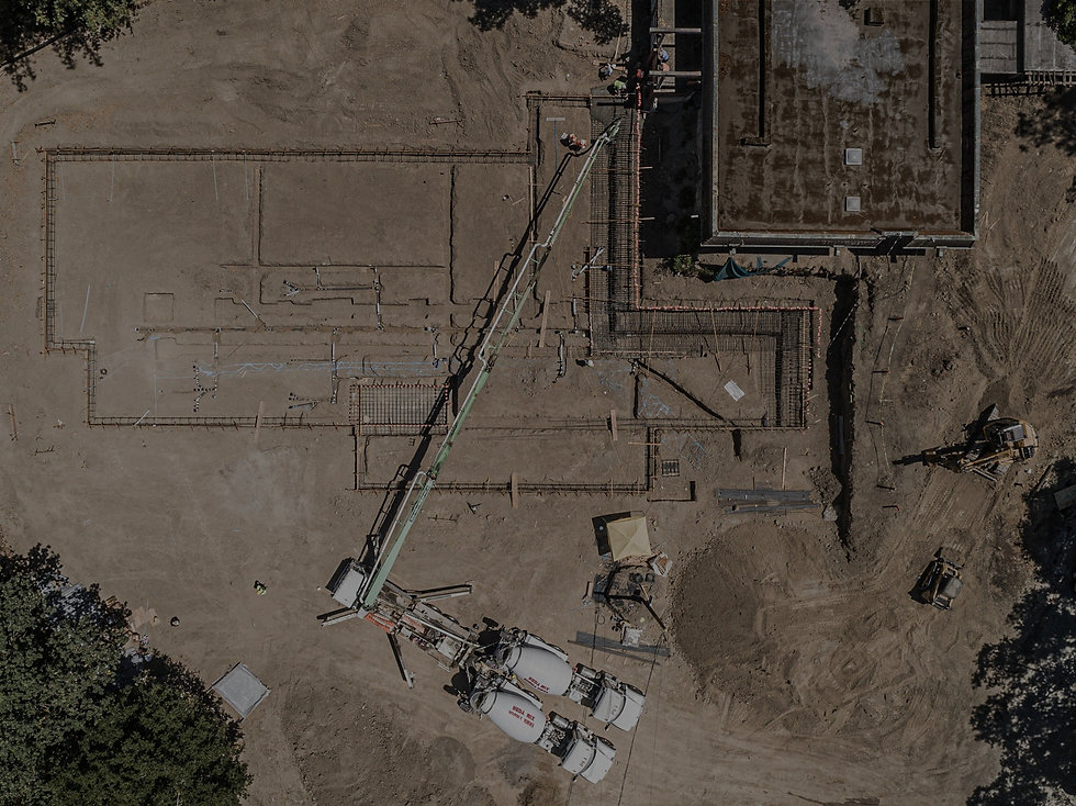 Aerial view of MN Builders commercial build in Lafayette, California.