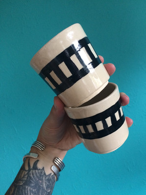 black and white cups large
