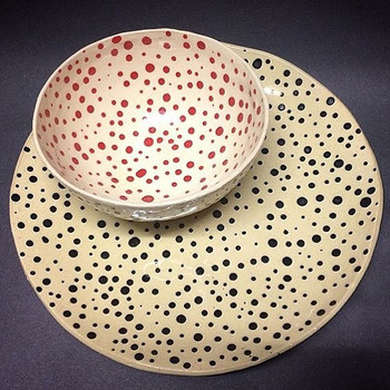 Dotty bowl and plate