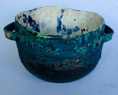 Cobalt Splash Bowl