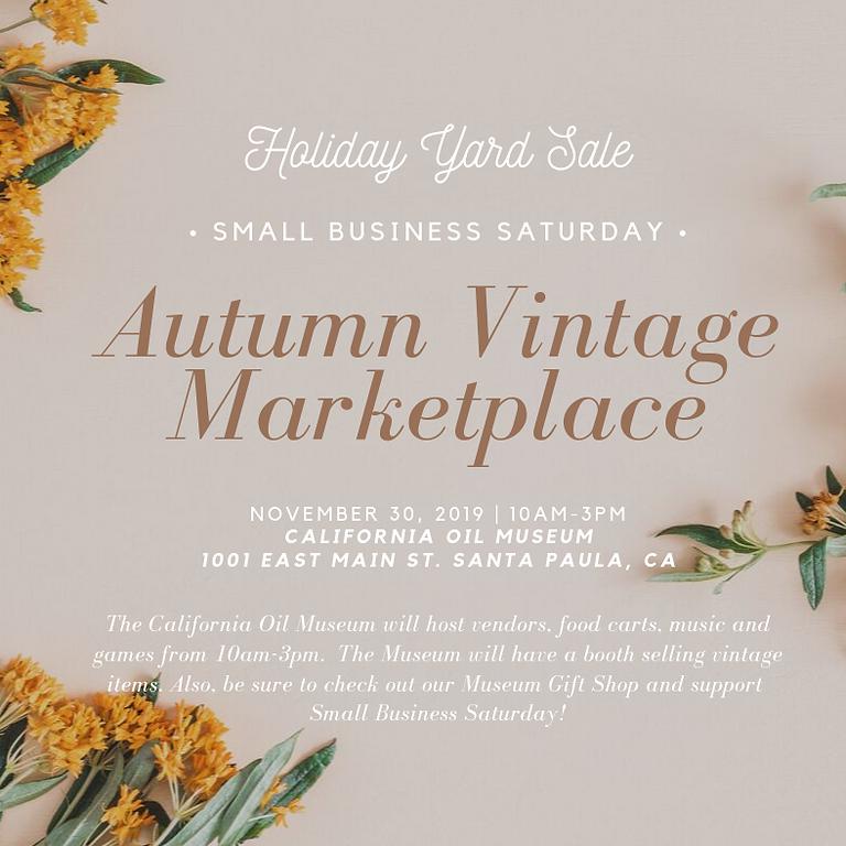 Autumn Vintage Marketplace-Holiday Yard Sale