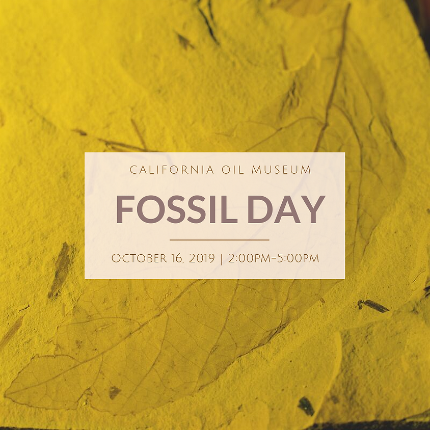 Fossil Day at the California Oil Museum