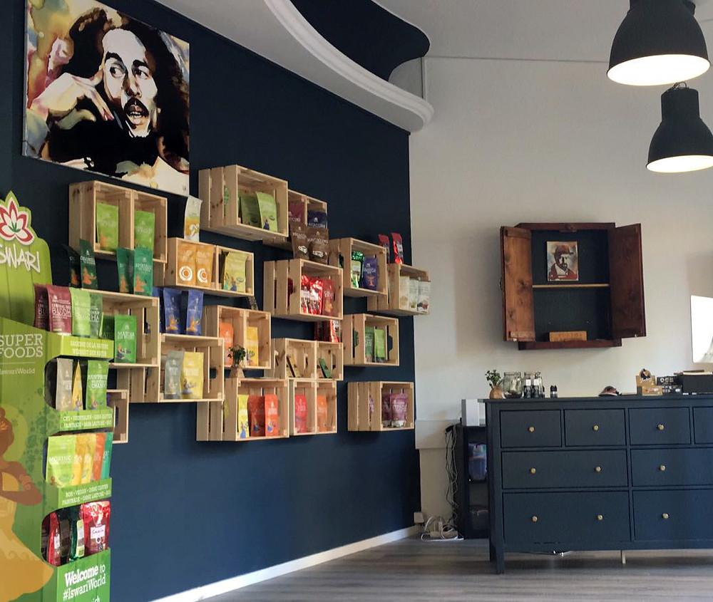 Inside of Moon's Coffee Shop