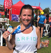 Lisa Green completes the Henley 10K to raise £315 for ARFID Awarenes UK.