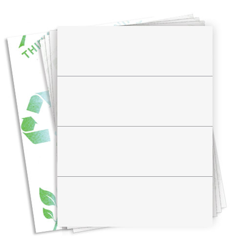 """8.5"""" x 2.75""""  (4 Label/Sheet) Case of 1000 Sheets"""