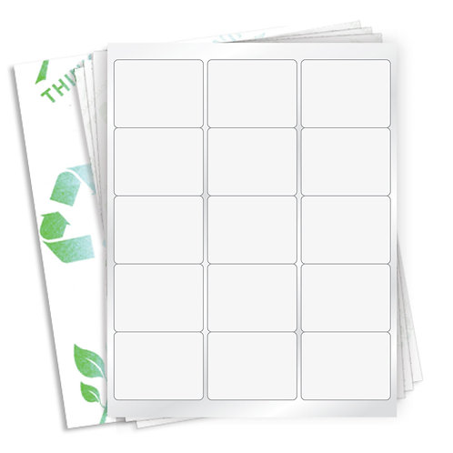 "2.625"" x 2""  (15 Label/Sheet) Case of 1000 Sheets"