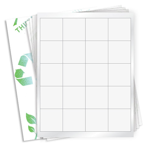"2"" x 2""  (20 Label/Sheet) Case of 1000 Sheets"